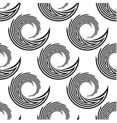 design seamless monochrome spiral movement pattern vector image