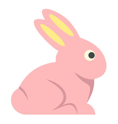 easter bunny icon isolated vector image