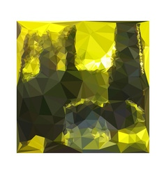 Electric Lime Yellow Abstract Low Polygon vector