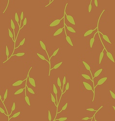 Elegant seamless pattern with green leaves vector