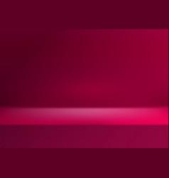 empty abstract showroom studio display stage vector image
