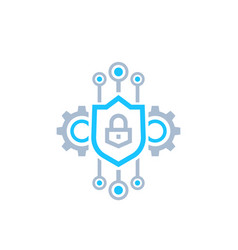 Encryption and encrypted data icon vector