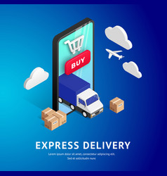 Express delivery isometric design vector