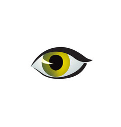 eye icon colored eye design in cat style cat eye vector image