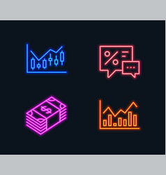 financial diagram usd currency and discounts vector image