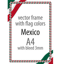 Flag v12 mexico vector