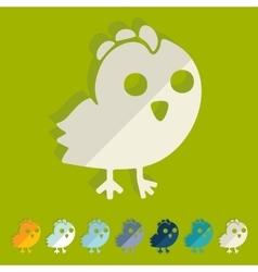 Flat design chicken vector