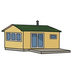 Funny small house vector