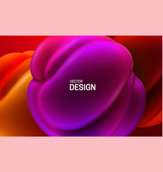 glossy soft shapes abstract 3d background vector image