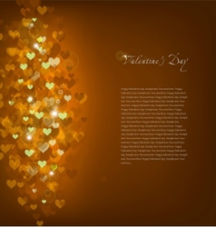 Gold Background Love vector image