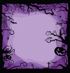 Halloween purple background vector