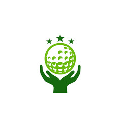 hand golf logo icon design vector image