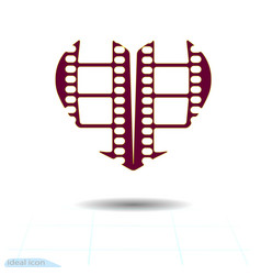 Heart icon a symbol of love valentine s day with vector