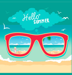 hello summer time1 vector image