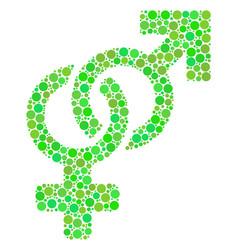 Heterosexual symbol collage of dots vector