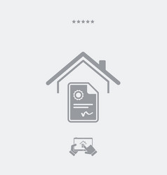 Home contract - web icon vector