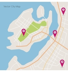 Island abstract map vector