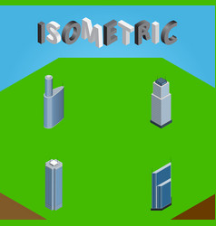 Isometric skyscraper set of residential vector
