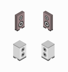 Isometric woofer icon in on white background vector