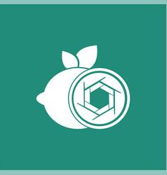 Lemon shutter photography logo design template vector