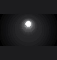Light at the end of tunnel background vector