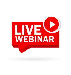 Live webinar great design for any purposes red vector