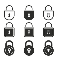 Lock icon set vector