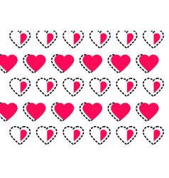 love heart logo background love heart logo vector image