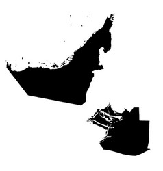 Map united arab emirates and abu dhabi country vector