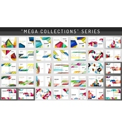 Mega collection business annual report brochure vector