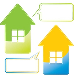 Message home vector image