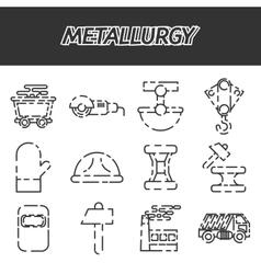 Metallurgy icon set vector