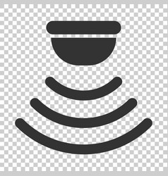 motion sensor icon in flat style sensor waves on vector image
