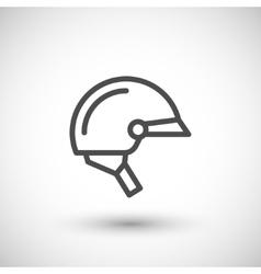 Motorcycle half helmet line icon vector