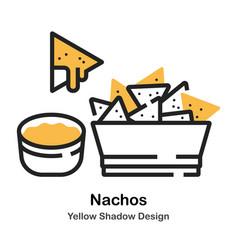 Nachos lineal color vector