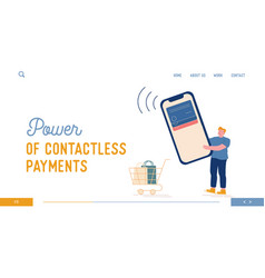 Noncontact service for shopping cashless paying vector