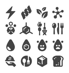 nutrition facts icon vector image