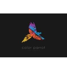 Parrot logo design color bird logo vector