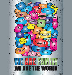 Population our world eps10 vector