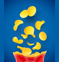 potatoes chips fast-food vector image
