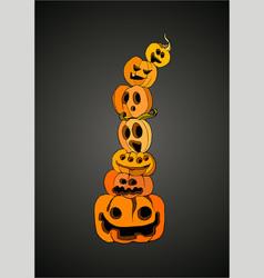 Pumpkin halloween art vector