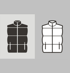 Quilted vest vector