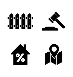 real estate simple related icons vector image