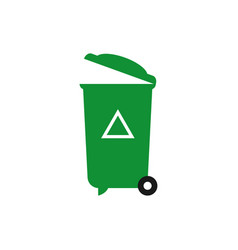 recycle trash can graphic design element vector image