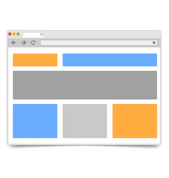 Responsive design - simple opened browser window vector