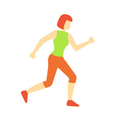 Running woman sport jogging vector