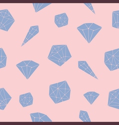 Seamless pattern crystal geometric vector image