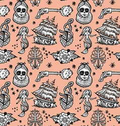 Seamless pattern tattoo vector
