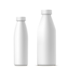 set milk or dairy bottles mockups vector image