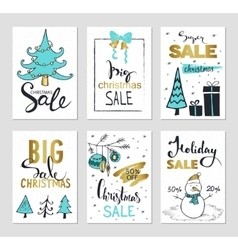 Set of creative sale holiday website banner vector image